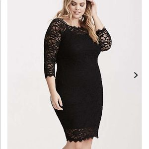 Torrid Lace Dress Purple